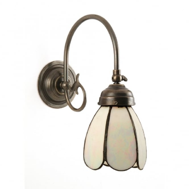 FREDA single aged brass Victorian wall light