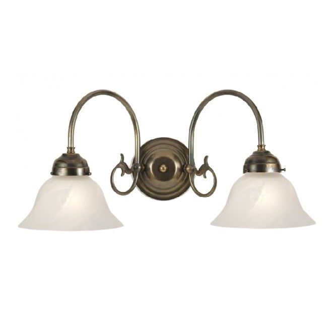 Traditional Wall Lamp Shades : Traditional Victorian or Edwardian Double Wall Light, White Shades