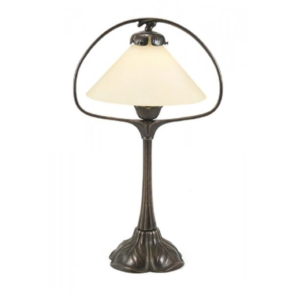 lighting nouveau hoop table lamp aged brass with cream coolie shade. Black Bedroom Furniture Sets. Home Design Ideas