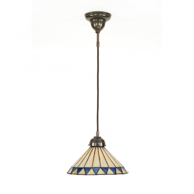 Classic British Lighting TIFFANY pendant light on corded cable