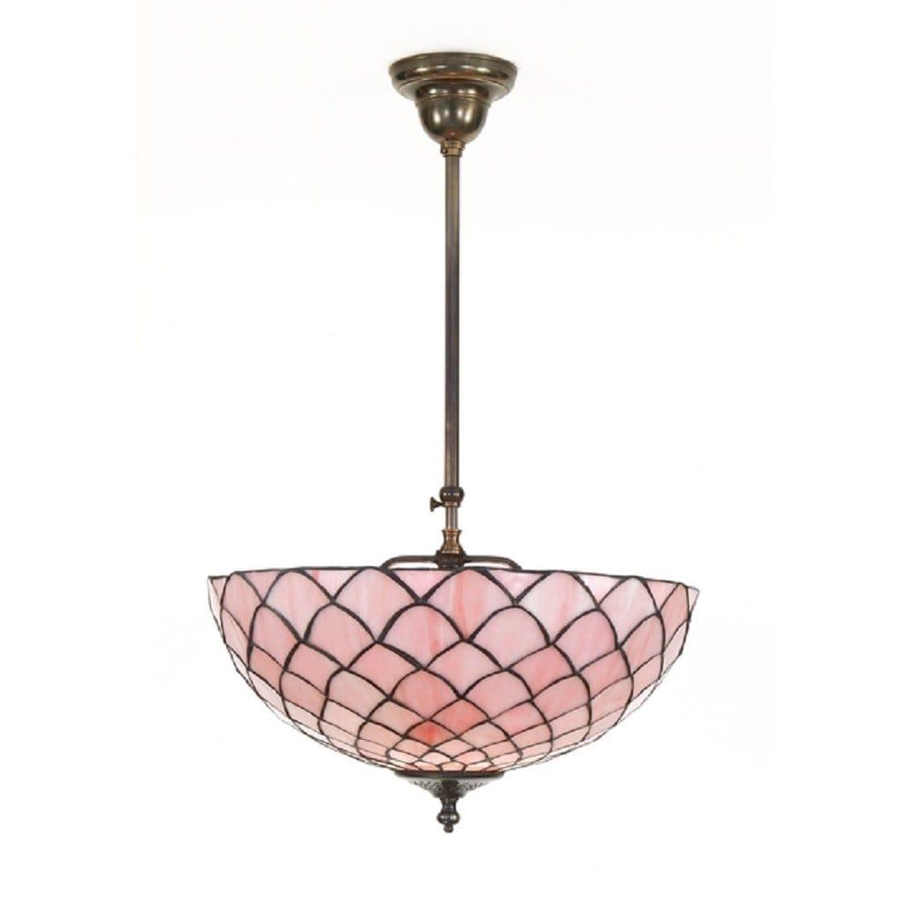 uplighter ceiling light aged brass pink