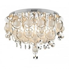 CLOUD large crystal light for low ceilings