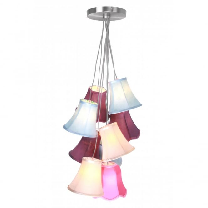 Decorative multi coloured cluster ceiling pendant 9 light cluster colourful ceiling pendant 9 light aloadofball Image collections