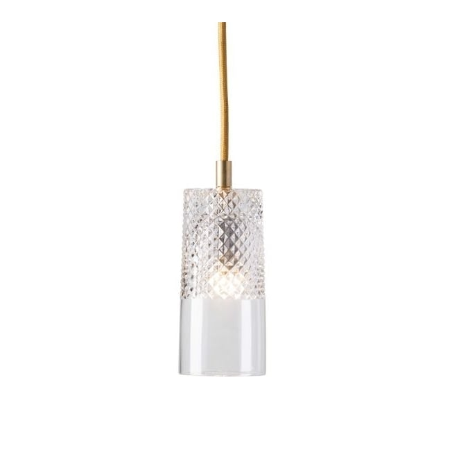 Copenhagen Glass Collection BATES lead crystal pendant with gold suspension