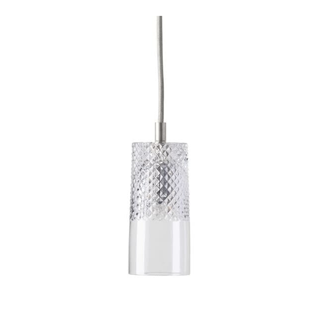 Copenhagen Glass Collection BATES lead crystal pendant with silver suspension