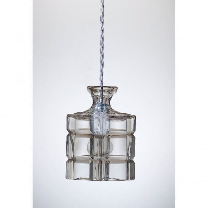 Copenhagen Glass Collection CLYDE lead crystal carafe ceiling pendant light