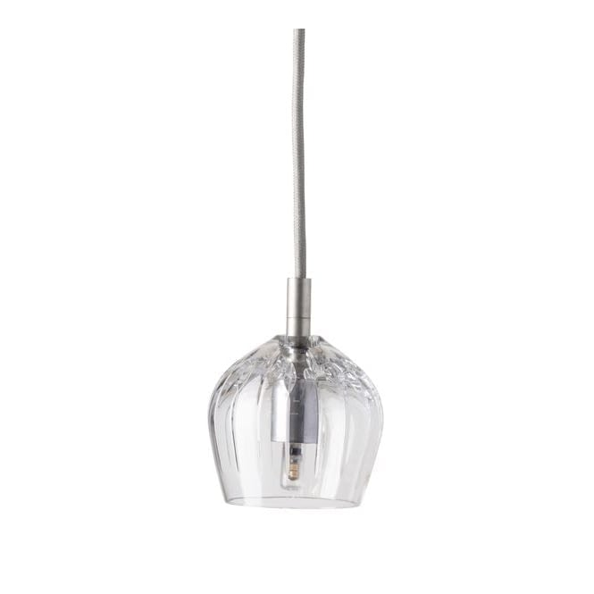 Copenhagen Glass Collection COGNAC lead crystal pendant with silver suspension