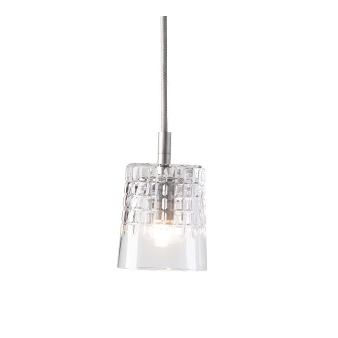 Copenhagen Glass Collection EDGAR lead crystal pendant with silver suspension