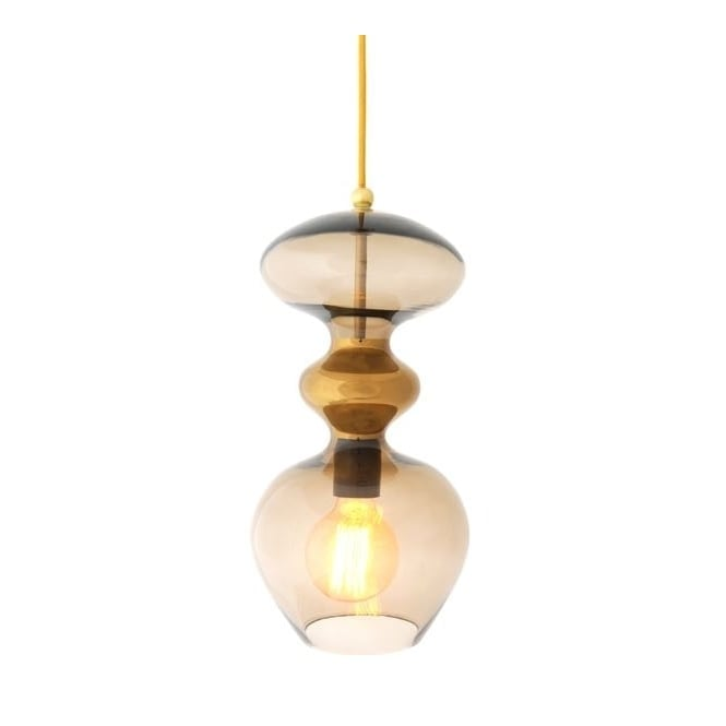 Copenhagen Glass Collection FUTURA chestnut brown glass ceiling pendant (large)