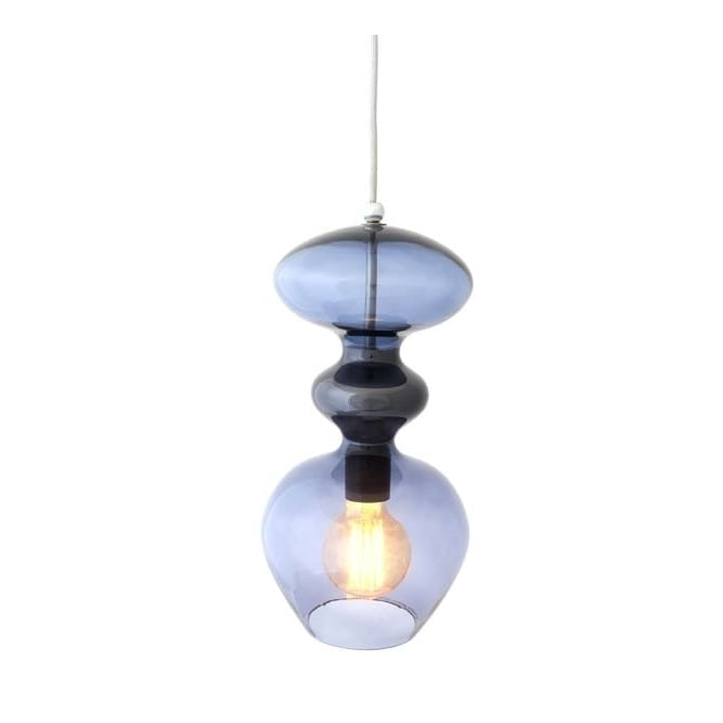 Copenhagen Glass Collection FUTURA deep blue glass ceiling pendant (small)