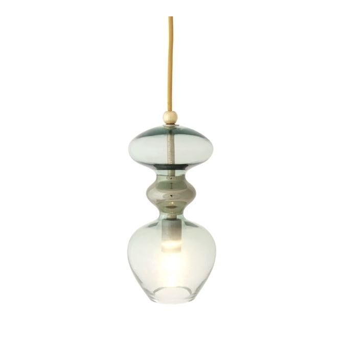 Copenhagen Glass Collection FUTURA forest green glass ceiling pendant (small)