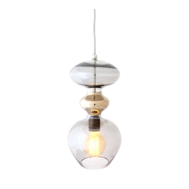 Copenhagen Glass Collection FUTURA smokey grey glass ceiling pendant (large)