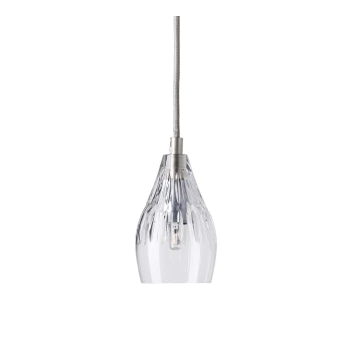 Copenhagen Glass Collection GAYLE lead crystal pendant with silver suspension