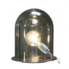 GLOW in a DOME smokey grey glass table lamp (large)