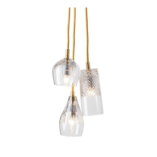 Copenhagen Glass Collection GROUP of gayle, bates and cognac with gold suspension