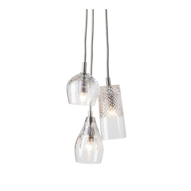 Copenhagen Glass Collection GROUP of gayle, bates and cognac with silver suspension
