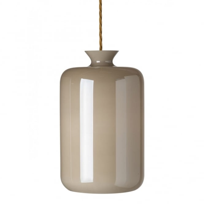 Copenhagen Glass Collection PILLAR BOTTLE hanging ceiling pendant with mother of pearl glass