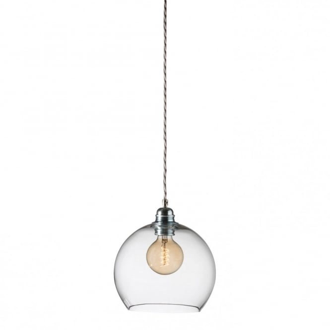 ROWAN clear glass ceiling pendant light, small size