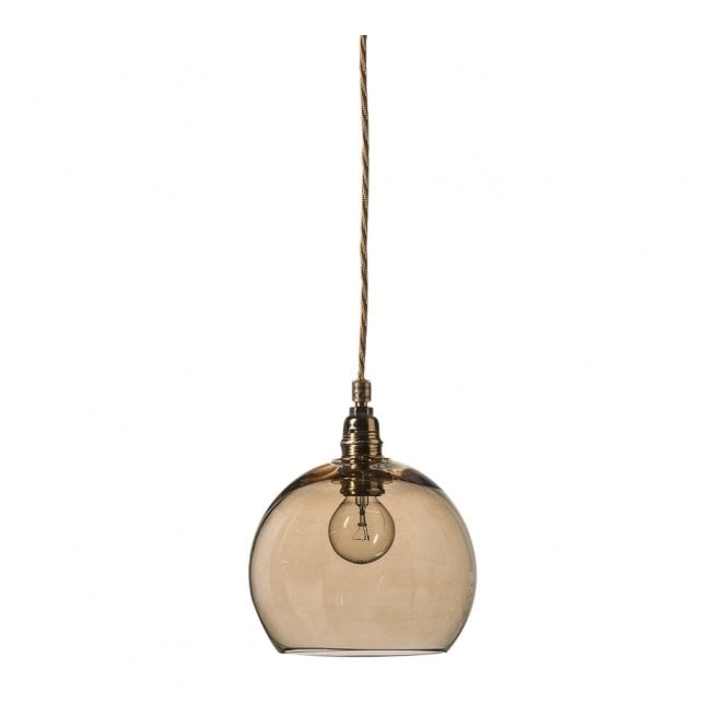 Copenhagen Glass Collection ROWAN mini chestnut brown glass glass ceiling pendant