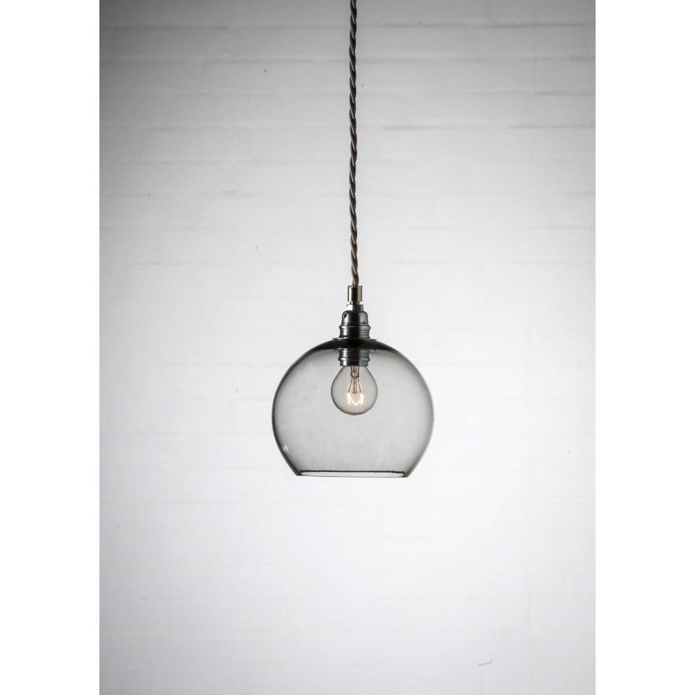 pendant ceiling lights kitchen smokey grey blown glass ceiling pendant with silver 4117
