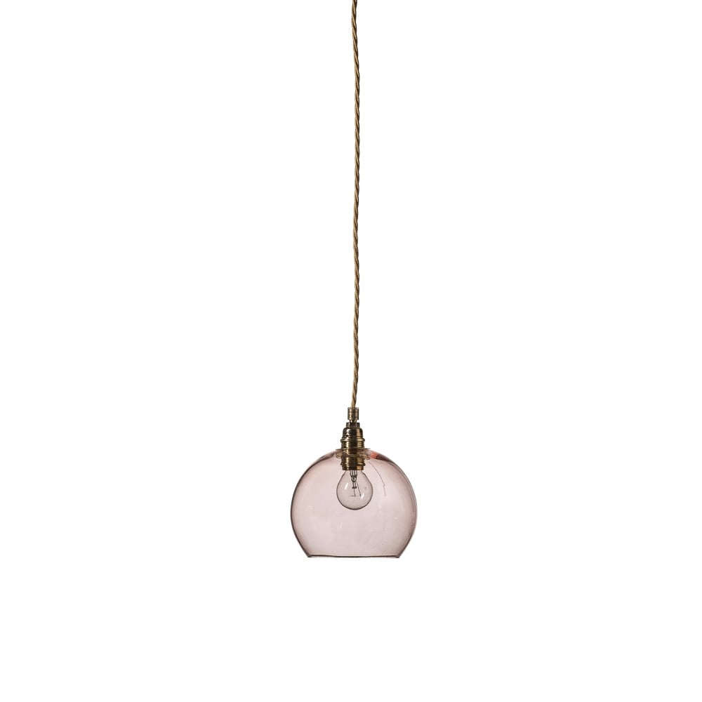 ROWAN Mini Transparent Coral Glass Ceiling Pendant Light