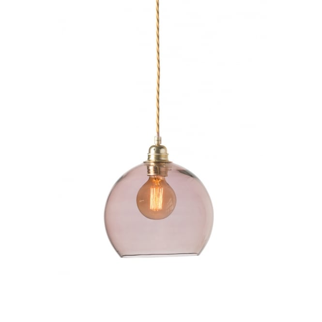 Copenhagen Glass Collection ROWAN small transparent obsidian glass ceiling pendant light