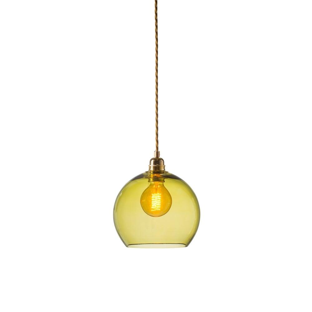 green glass pendant lighting. ROWAN Small Transparent Olive Green Glass Ceiling Pendant Light Lighting