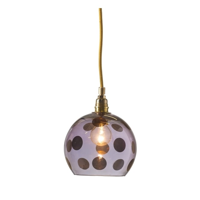 Copenhagen Glass Collection ROWAN transparent obsidian glass ceiling pendant with copper dots (mini)