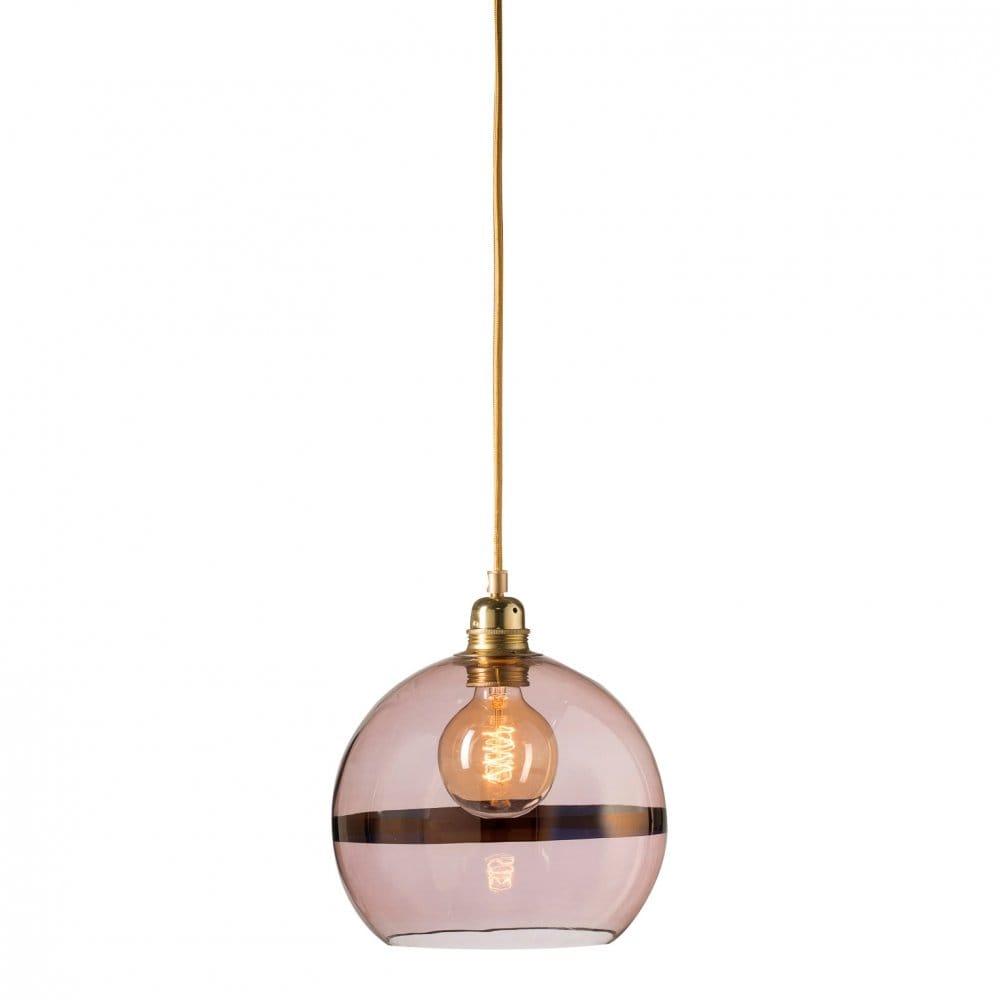 Copper Glass Globe Ceiling Pendant with Copper Metallic ...