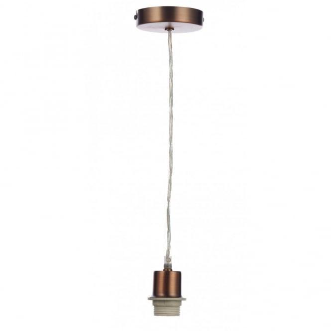 Copper pendant light suspension set to fit es bulbs clear cable copper pendant suspension with clear flex aloadofball Images