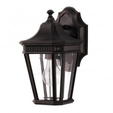 small bronze traditional exterior wall lantern - IP44