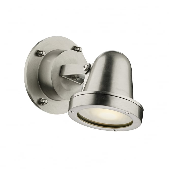 COVE outdoor wall spotlight in a nickel finish