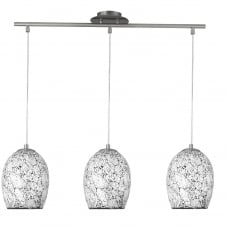 Pendant lights pendant lighting for ceilings the lighting company modern 3 light pendant bar with white crackle mosaic glass shade aloadofball Image collections