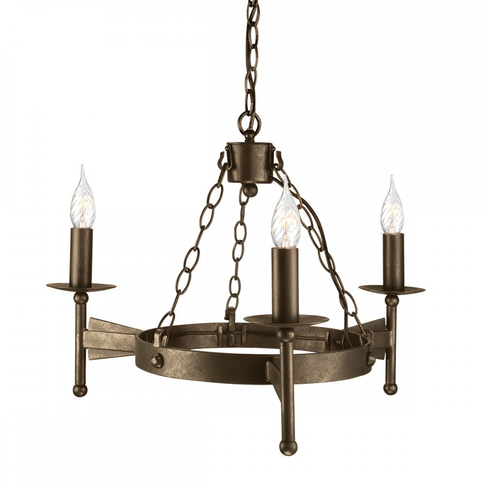Painted 12 light wrought iron chandelier | Wrought iron