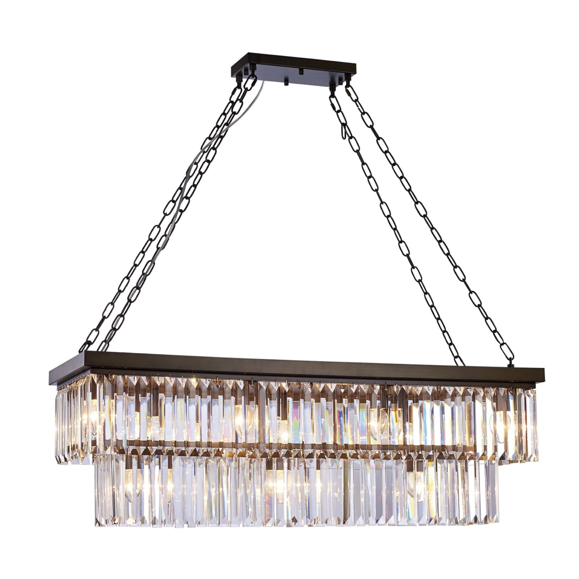 Glass Chain Island Chandelier Shades of Light | Chandelier