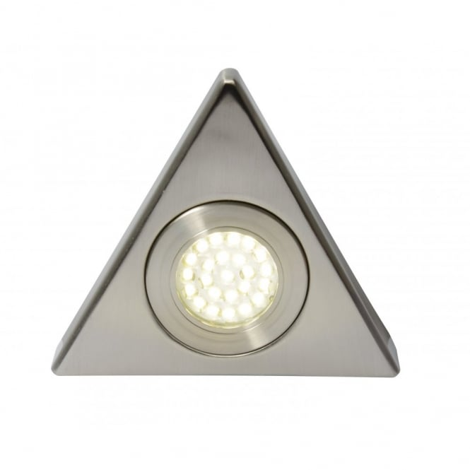 Culina FONTE LED triangular cabinet light in stainless steel