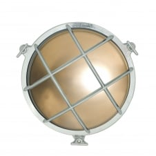 7027 round chrome plated bulkhead with frosted glass and front guard