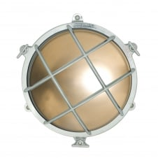 7029 brass rounded bulkhead in chrome with frosted glass