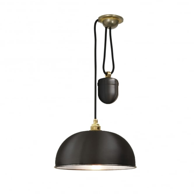 DOME rise and fall ceiling pendant in a black finish
