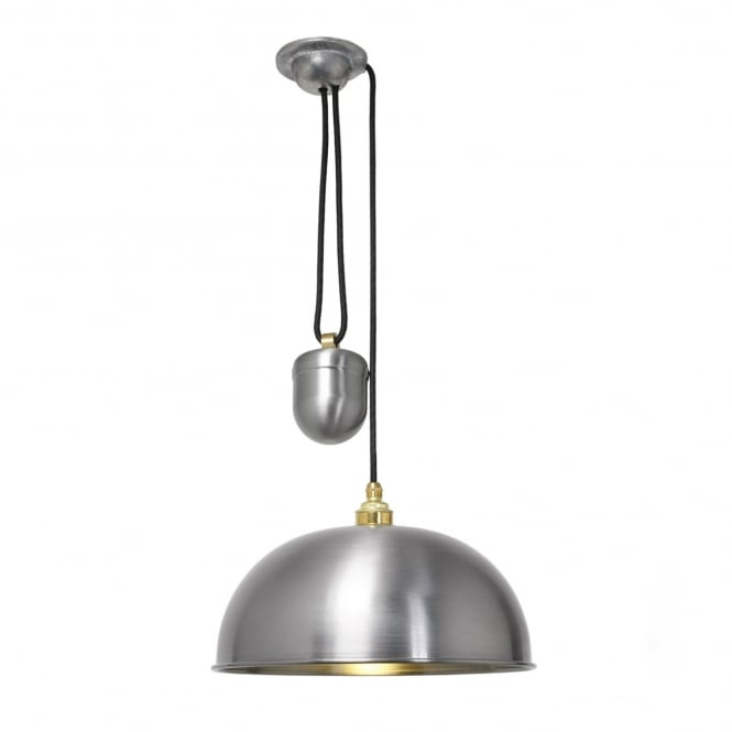 DOME rise and fall ceiling pendant in a lacquered steel finish