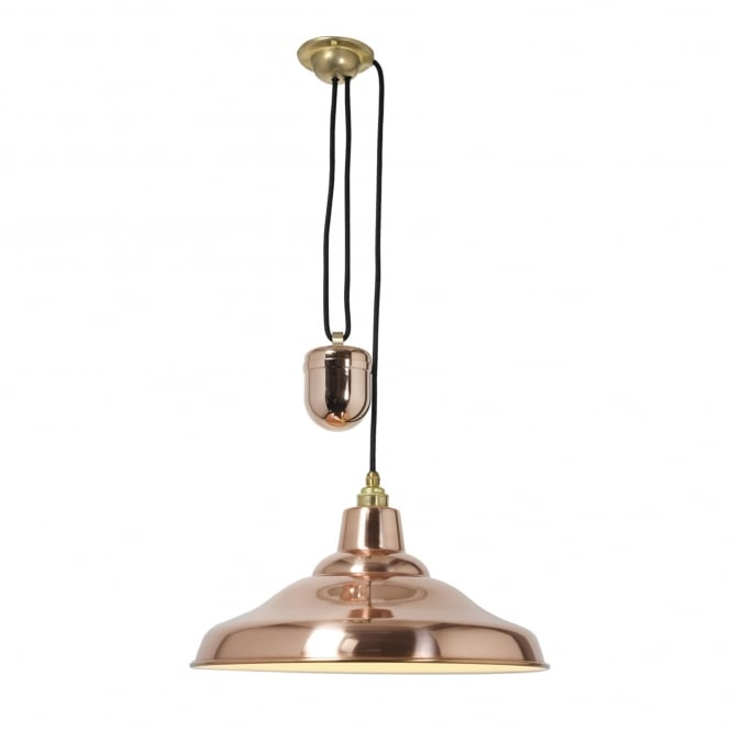 RISE & Fall School Light Polished Copper