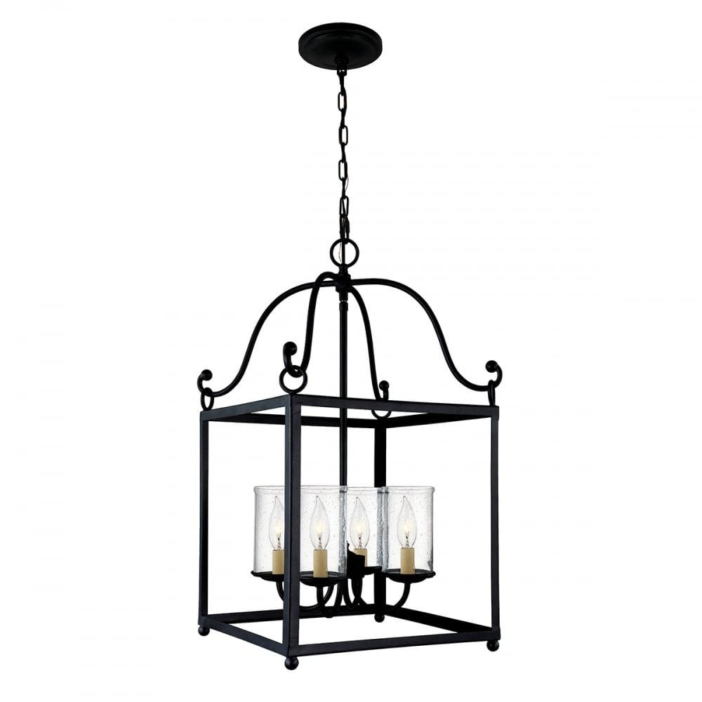 Open Frame Foyer Light : Traditional large open frame ceiling pendant lantern in