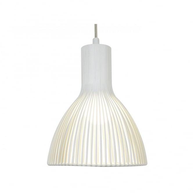 Single white metal ceiling pendant light doble insulated wth long drop define large white metal pendant light for high ceilings aloadofball Gallery