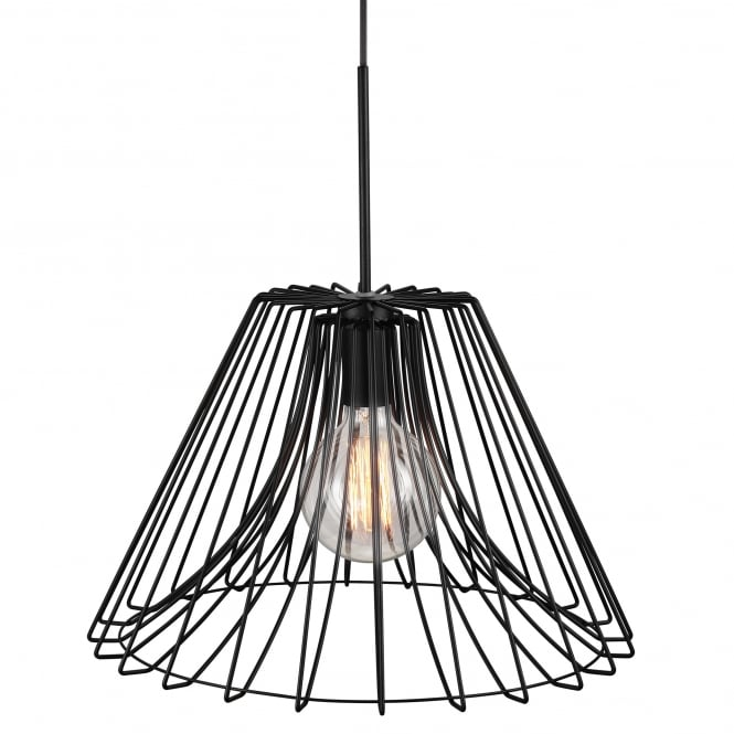 Design For The People CALM black wire frame ceiling pendant light