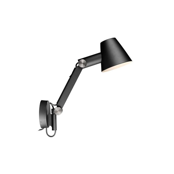 Design For The People CULT adjustable arm wall light in black