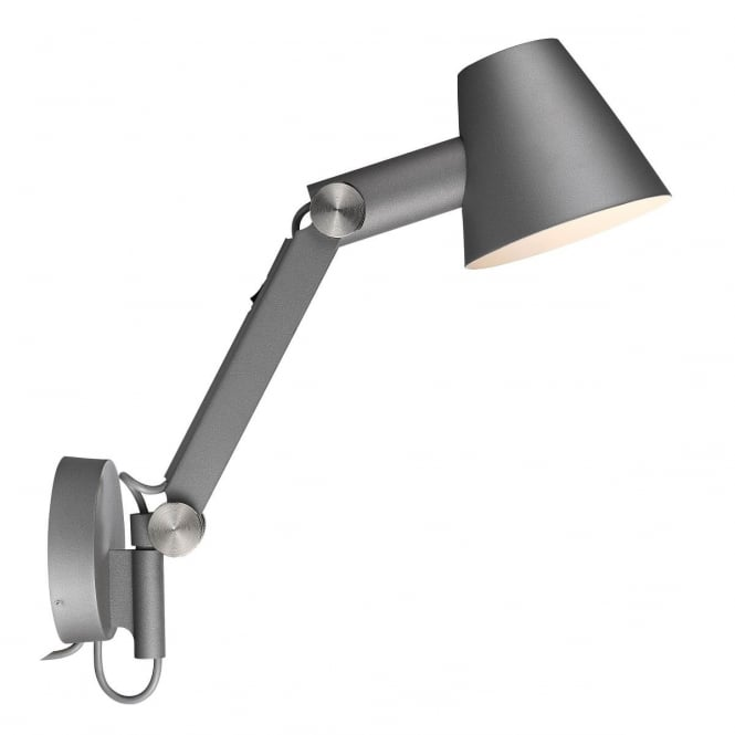 CULT adjustable arm wall light in grey