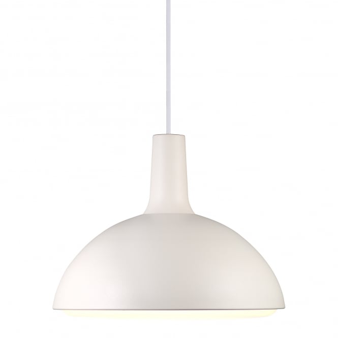 Design For The People DEE modern dome low energy ceiling pendant in white