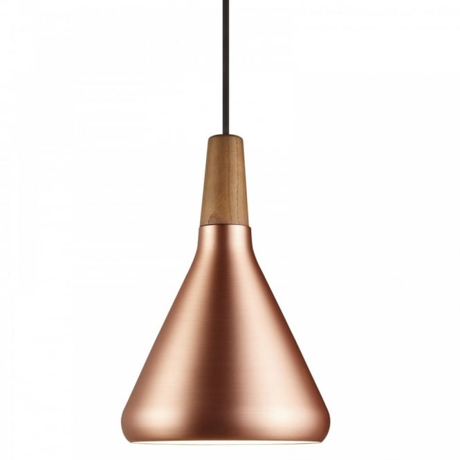 Design For The People FLOAT 18 copper & wooden ceiling pendant