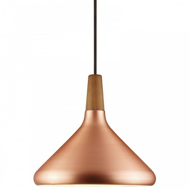 Design For The People FLOAT 27 copper & wooden ceiling pendant