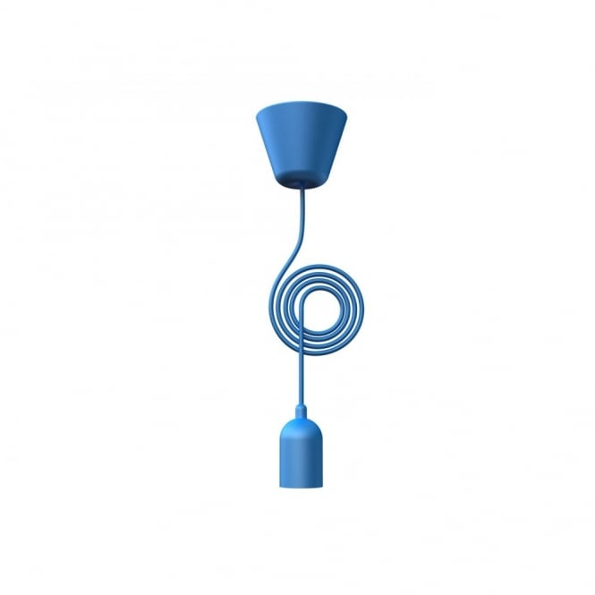 Design For The People FUNK blue pendant light set & cord